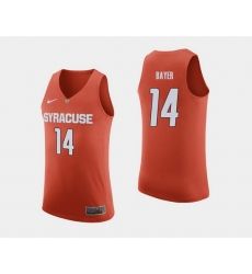 Men Syracuse Orange Braedon Bayer Orange College Basketball Jersey