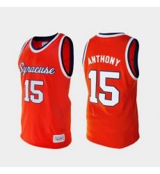 Men Syracuse Orange Carmelo Anthony Alumni Orange College Baketball Jersey
