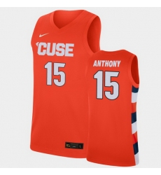 Men Syracuse Orange Carmelo Anthony College Basketball Orange Replica Jersey