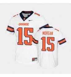 Men Syracuse Orange Jacobian Morgan Untouchable Game White Jersey