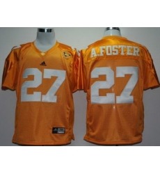 NCAA Tennessee Volunteers 27# Adrian Foster Yellow SEC Patch College Football Jersey