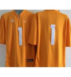 Tennessee Vols #1 Orange Stitched NCAA Jersey