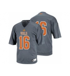 Tennessee Volunteers 16 Peyton Manning Grey College Football Techfit NCAA Jersey