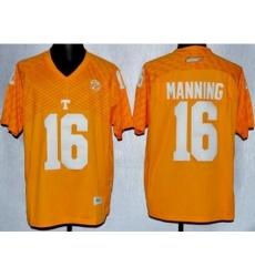 Tennessee Volunteers 16 Peyton Manning Orange College Football Techfit NCAA Jersey