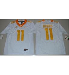 Vols #11 Joshua Dobbs White Stitched NCAA Jersey