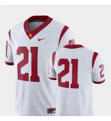Men Usc Trojans 21 White College Football 2018 Game Jersey