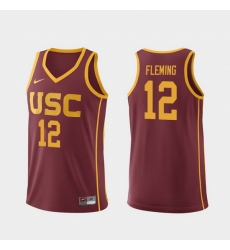 Men Usc Trojans Devin Fleming Cardinal Replica College Basketball Jersey