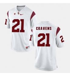 Men Usc Trojans Su'A Cravens Pac 12 Game White Jersey