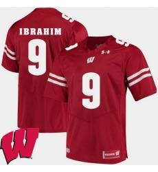 Men Wisconsin Badgers Rachid Ibrahim Red Alumni Football Game Ncaa 2018 Jersey