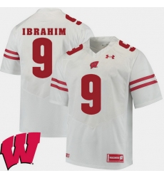 Men Wisconsin Badgers Rachid Ibrahim White Alumni Football Game Ncaa 2018 Jersey
