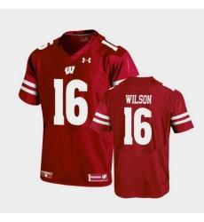 Men Wisconsin Badgers Russell Wilson Replica Red Football Jersey