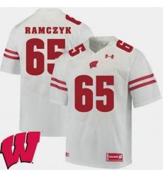 Men Wisconsin Badgers Ryan Ramczyk White Alumni Football Game Ncaa 2018 Jersey