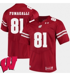 Men Wisconsin Badgers Troy Fumagalli Red Alumni Football Game Ncaa 2018 Jersey