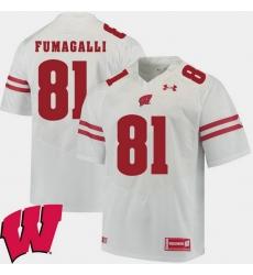 Men Wisconsin Badgers Troy Fumagalli White Alumni Football Game Ncaa 2018 Jersey