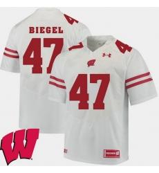 Men Wisconsin Badgers Vince Biegel White Alumni Football Game Ncaa 2018 Jersey