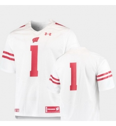 Men Wisconsin Badgers White College Football Team Replica Jersey