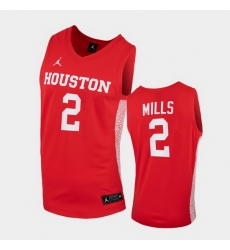 Men Houston Cougars Caleb Mills Replica Red College Basketball Jersey