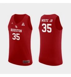 Men Houston Cougars Fabian White Jr. Red Replica College Basketball Jersey