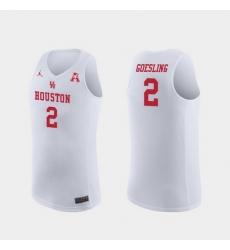 Men Houston Cougars Landon Goesling White Replica College Basketball Jersey