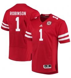 Men #1 Wan'Dale Robinson Nebraska Cornhuskers College Football Jerseys
