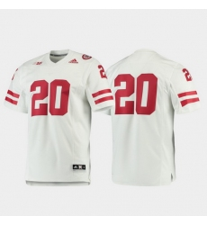 Men Nebraska Cornhuskers 20 White Premier Football Jersey