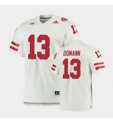 Men Nebraska Cornhuskers Jojo Domann Premier White Football Jersey