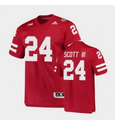 Men Nebraska Cornhuskers Marvin Scott Iii College Football Scarlet Premier Jersey