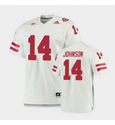 Men Nebraska Cornhuskers Rahmir Johnson Premier White Football Jersey