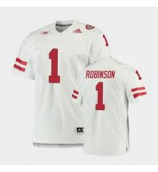 Men Nebraska Cornhuskers Wan'Dale Robinson Premier White Football Jersey