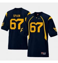 Men West Virginia Mountaineers Quinton Spain Navy College Football Home Jersey
