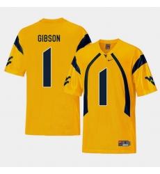 Men West Virginia Mountaineers Shelton Gibson Gold College Football Alternate Jersey