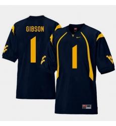 Men West Virginia Mountaineers Shelton Gibson Navy College Football Home Jersey