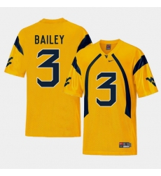 Men West Virginia Mountaineers Stedman Bailey Gold College Football Alternate Jersey