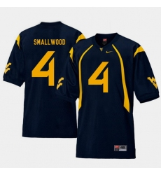 Men West Virginia Mountaineers Wendell Smallwood Navy College Football Home Jersey