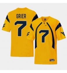 Men West Virginia Mountaineers Will Grier Gold College Football Alternate Jersey