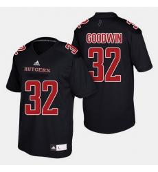 Men Rutgers Scarlet Knights Justin Goodwin College Football Black Jersey