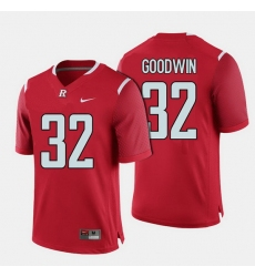 Men Rutgers Scarlet Knights Justin Goodwin College Football Red Jersey