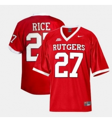 Men Rutgers Scarlet Knights Ray Rice College Football Red Jersey