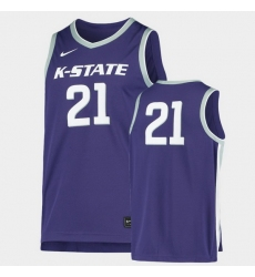 Men Kansas State Wildcats Purple Replica Throwback Jersey