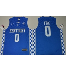 Wildcats #0 De 27Aaron Fox Royal Blue Basketball Elite Stitched NCAA Jersey
