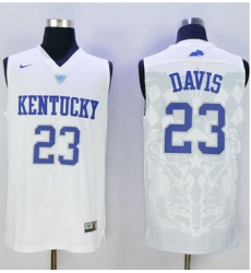 Wildcats #23 Anthony Davis White Basketball Stitched NCAA Jersey