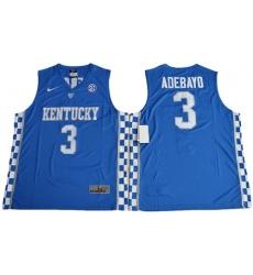 Wildcats #3 Edrice Adebayo Royal Blue Basketball Elite Stitched NCAA Jersey