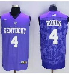Wildcats #4 Rajon Rondo Blue Basketball Stitched NCAA Jersey