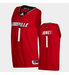 Men Louisville Cardinals Carlik Jones College Basketball Red Swingman 2020 21 Jersey