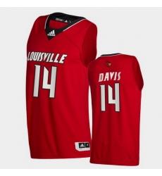 Men Louisville Cardinals Dre Davis College Basketball Red Swingman 2020 21 Jersey
