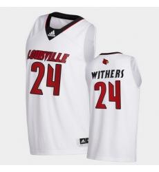 Men Louisville Cardinals Jae'Lyn Withers College Basketball White Swingman 2020 21 Jersey