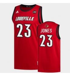 Men Louisville Cardinals Jazmine Jones Replica Red 2020 Draft Jersey