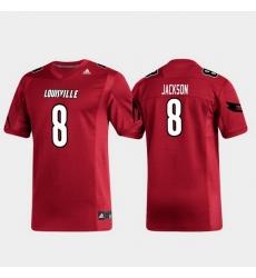 Men Louisville Cardinals Lamar Jackson 8 Red Replica Alumni Football Jersey