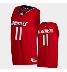 Men Louisville Cardinals Quinn Slazinski College Basketball Red Swingman 2020 21 Jersey
