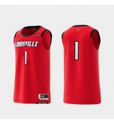 Men Louisville Cardinals Red Basketball Swingman Adidas Replica Jersey